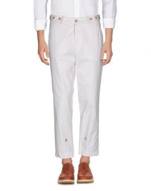Повседневные брюки UMIT BENAN. Цвет: белый