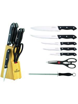 Набор ножей с подставкой BOHMANN. Цвет: черный