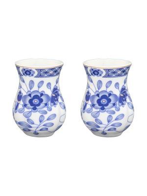 Набор из 2-х вазочек Шарм Elan Gallery. Цвет: белый, голубой