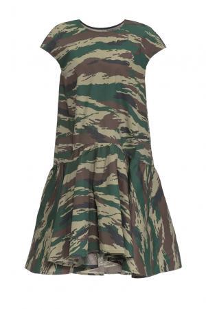 Платье из хлопка 161182 Anna Dubovitskaya. Цвет: разноцветный