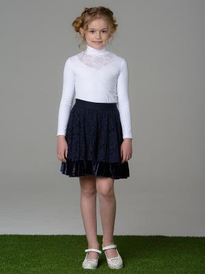 Блузка LIK. Цвет: белый
