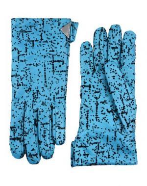 Перчатки EMPORIO ARMANI. Цвет: цвет морской волны