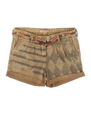 Джинсовые шорты SCOTCH R'BELLE. Цвет: бежевый