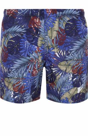 Плавки-шорты с принтом Ermenegildo Zegna. Цвет: темно-синий