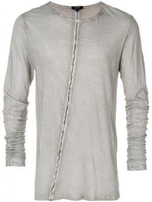Полосатая футболка с длинными рукавами Unconditional. Цвет: серый