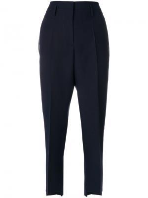 Укороченные брюки  прямого кроя Golden Goose Deluxe Brand. Цвет: синий