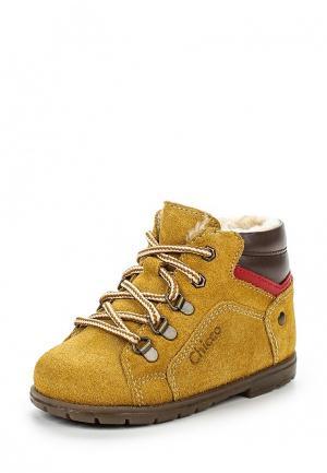 Ботинки Chicco. Цвет: желтый