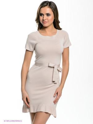 Платье ARDI. Цвет: бежевый