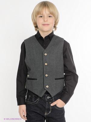 Жилет Houndstooth/Flannel Vest Fore!! Axel and Hudson. Цвет: серый, коричневый, молочный