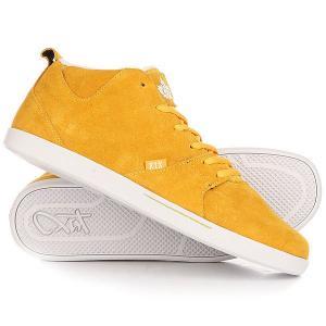 Кеды кроссовки высокие  Schn1tzel Le Mustard K1X. Цвет: оранжевый