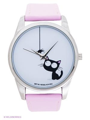 Часы Mitya Veselkov. Цвет: розовый