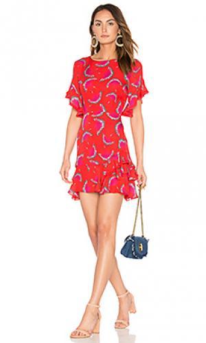 Платье lissy Tanya Taylor. Цвет: красный