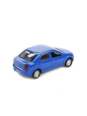 Машина RENAULT LOGAN2 металлическая инерционная 12 см. Технопарк. Цвет: синий