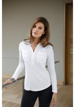 Блузка MY STYLE. Цвет: цвет белой шерсти