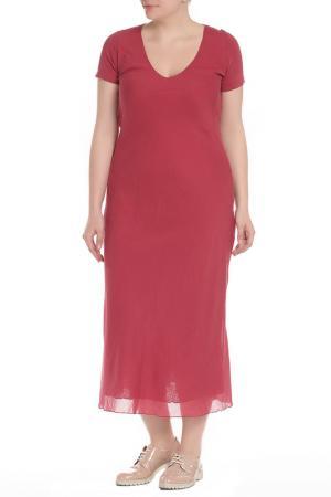 Платье EUROPEAN CULTURE. Цвет: бордовый