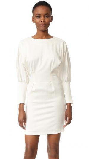 Платье с длинными рукавами Intropia. Цвет: белый