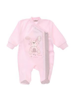 Комбинезон нательный для малыша Sofija. Цвет: розовый