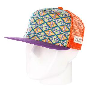 Бейсболка True Spin Inka Purple TrueSpin. Цвет: оранжевый,фиолетовый