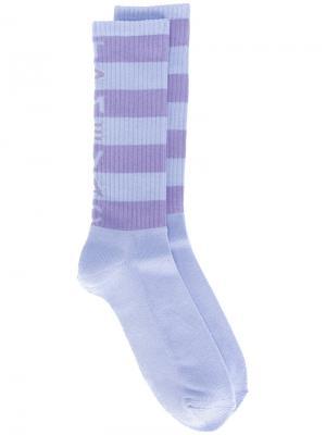 Полосатые носки Cav Empt. Цвет: розовый и фиолетовый