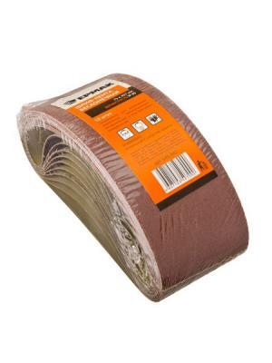 Шлиф-лента бесконечная 75х457мм Р80, 10шт Ермак. Цвет: серый