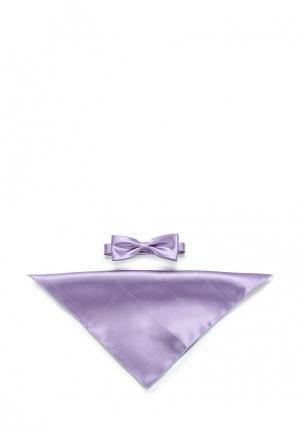 Комплект бабочка и платок Greg. Цвет: фиолетовый