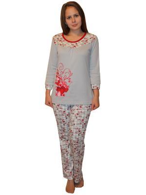Пижама Mojo Collection. Цвет: серый