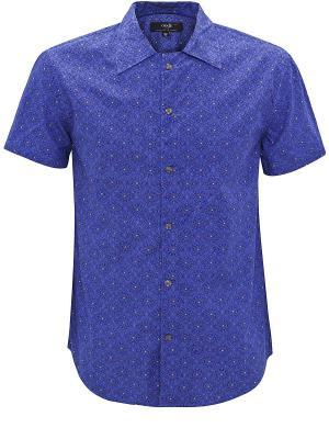 Сорочка Oodji. Цвет: темно-синий, темно-фиолетовый, голубой