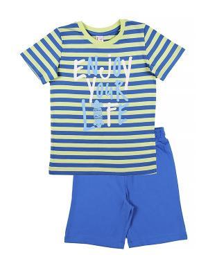 Комплект для мальчика (футболка, шорты) Cherubino. Цвет: салатовый