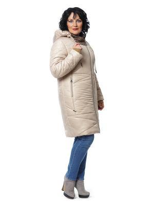 Пальто D`imma. Цвет: бежевый