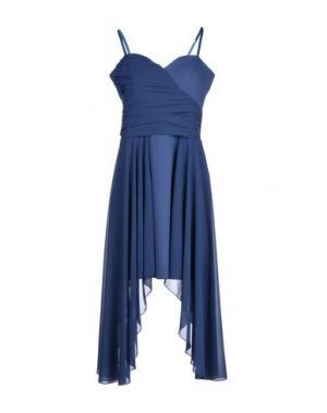 Короткое платье TO-MAY. Цвет: синий