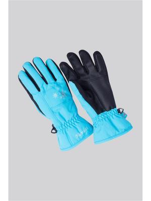 Перчатки OKWAY. Цвет: голубой
