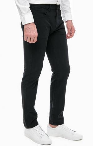 Зауженные черные брюки 360 Five Pkt Slim Dockers. Цвет: черный