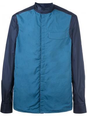 Спортивная куртка с контрастными рукавами Qasimi. Цвет: синий