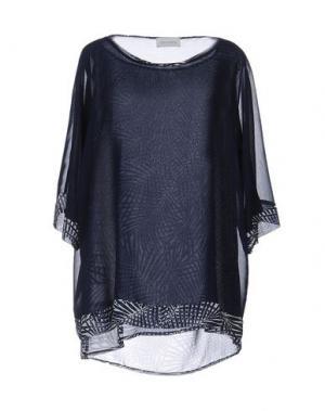 Блузка CALALUNA. Цвет: темно-синий
