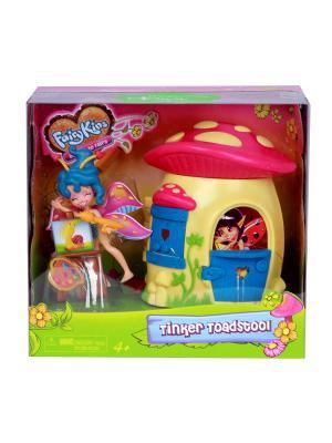 Набор: Фея Спора и лесной домик-гриб Lanard. Цвет: синий, желтый, красный, розовый
