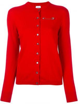 Тонкий кардиган Le Kilt. Цвет: красный