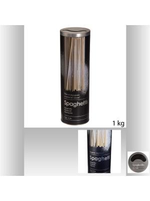 Банка для хранения  сыпучих продуктов из окрашенных металлов 8,5х27 см JJA. Цвет: черный,серебристый,светло-коричневый