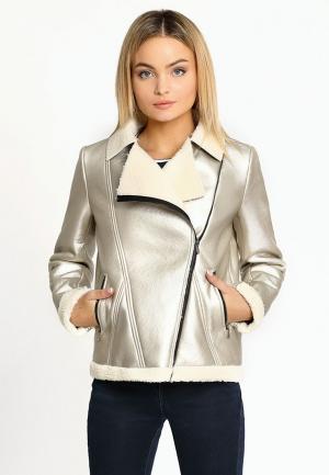 Куртка кожаная Prio. Цвет: золотой