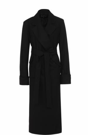 Удлиненное пальто с поясом Ann Demeulemeester. Цвет: черный