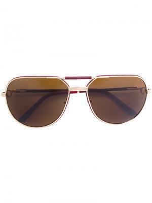 Солнцезащитные очки Must Cartier. Цвет: телесный