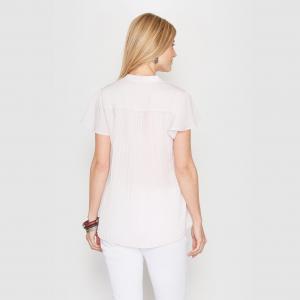 Блузка из крепа с плиссировкой на спине ANNE WEYBURN. Цвет: фиалковый
