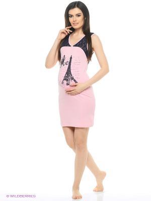 Ночная сорочка для беременных Hunny Mammy. Цвет: розовый, синий