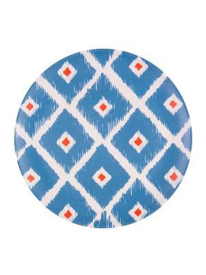 Набор тарелок десертных Мексикан Ромбус Ecowoo. Цвет: голубой