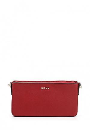 Сумка DKNY. Цвет: бордовый