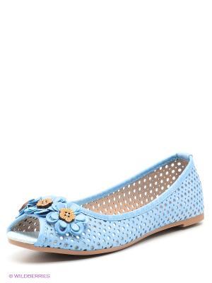 Балетки Wilmar. Цвет: голубой