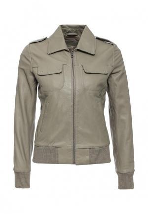 Куртка кожаная Kookai. Цвет: серый