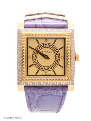 Часы Versace. Цвет: сиреневый