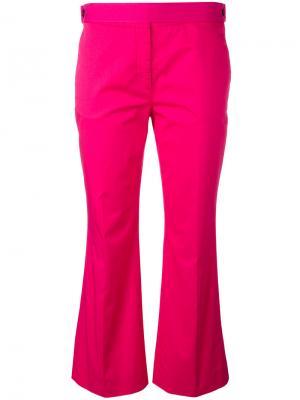 Укороченные расклешенные брюки Nº21. Цвет: розовый и фиолетовый