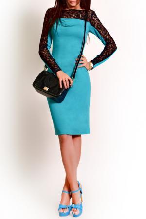 Платье FRANCESCA LUCINI. Цвет: изумрудный, черный
