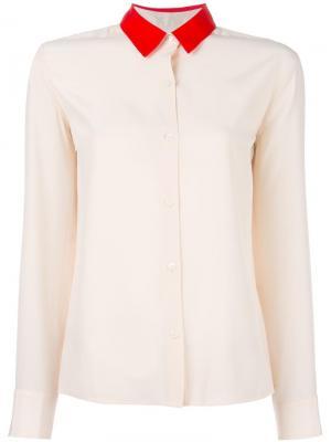 Двухцветная рубашка Rag & Bone. Цвет: телесный